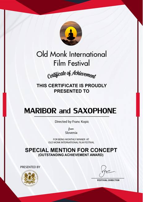 MARIBOR and SAXOPHONE Special Mention For Concept majnši